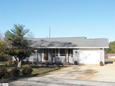 Greenville SC Single Family Home For Sale: $178,500