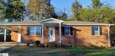 Greenville SC Single Family Home For Sale: $129,500