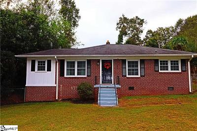 Anderson Single Family Home For Sale: 407 Pine Hill