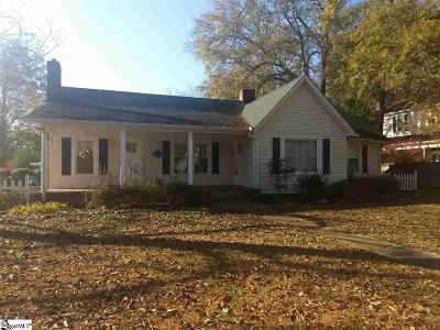 Pelzer Single Family Home For Sale: 59 Main