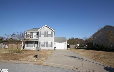 Inman Single Family Home For Sale: 208 Luke