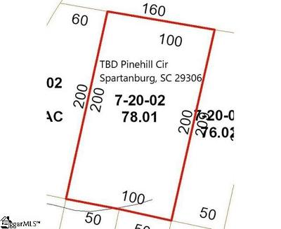 Spartanburg Residential Lots & Land For Sale: Pinehill