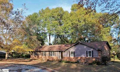 Simpsonville Single Family Home For Sale: 107 Hollymont