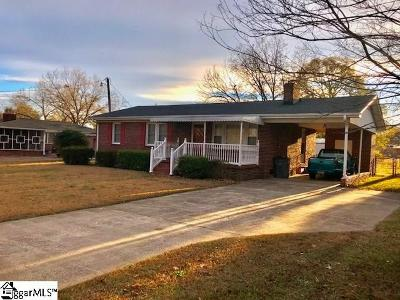 Greenville Single Family Home Contingency Contract: 204 Rangeview