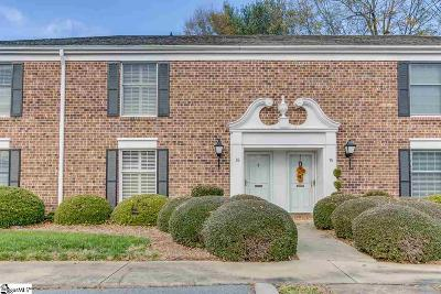 Greenville Condo/Townhouse For Sale: 803 Edwards #Unit 16