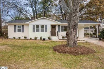 Greenville Single Family Home For Sale: 115 Folkstone