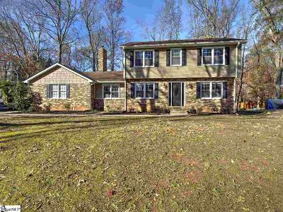 Greenville County Single Family Home For Sale: 204 Gilder Creek