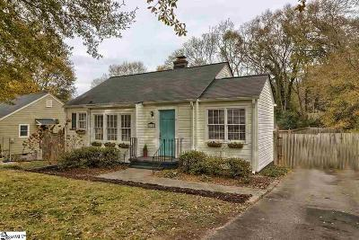 Greenville SC Single Family Home For Sale: $238,000