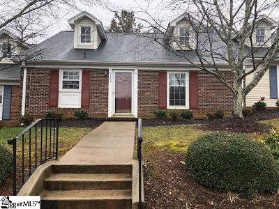 Greenville County Condo/Townhouse For Sale: 1103 Wenwood