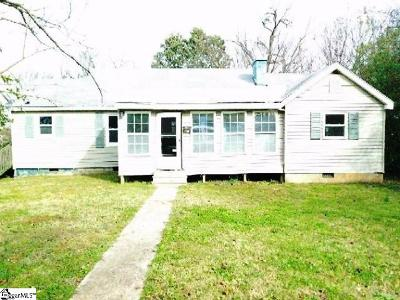Spartanburg Single Family Home For Auction: 595 El Paso