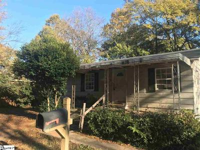 Greenville SC Single Family Home For Sale: $39,900