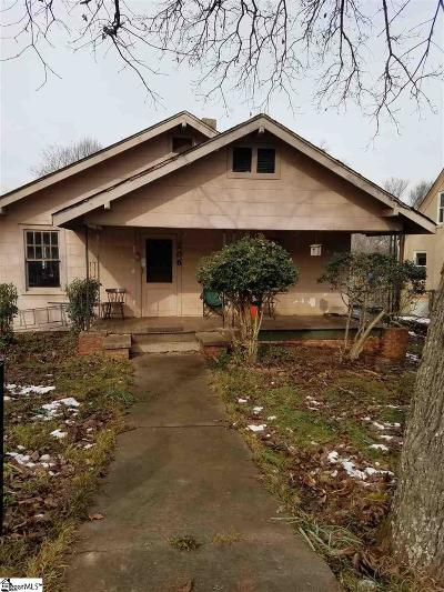 Greenville Single Family Home For Sale: 206 Donnybrook