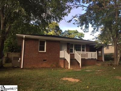 Greenville SC Single Family Home For Sale: $117,500