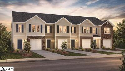 Greer SC Condo/Townhouse For Sale: $163,990