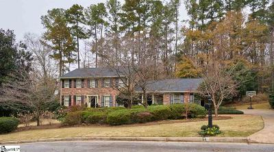 Greenville SC Single Family Home For Sale: $825,000