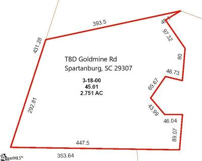 Spartanburg Residential Lots & Land For Sale: Goldmine