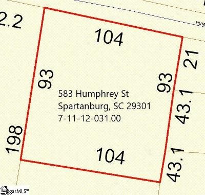 Spartanburg Residential Lots & Land For Sale: 583 Humphrey
