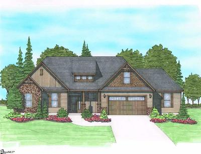 Greer Single Family Home For Sale: 2111 Edwards Lake #Lot 1