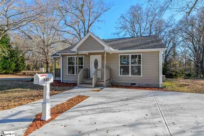 Woodruff Single Family Home For Sale: 345 W Peachtree