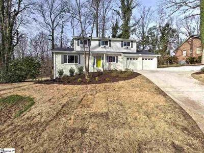 Greenville Single Family Home For Sale: 309 Bridgewater