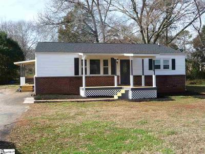 Greenville County Single Family Home For Sale: 126 Sulphur Springs