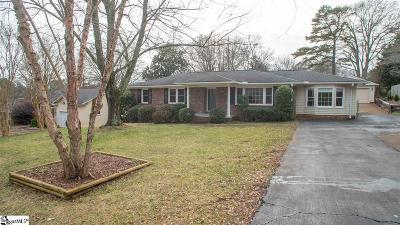 Greenville County Single Family Home For Sale: 9 Vista