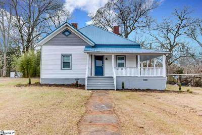 Pelzer Single Family Home For Sale: 505 Anderson