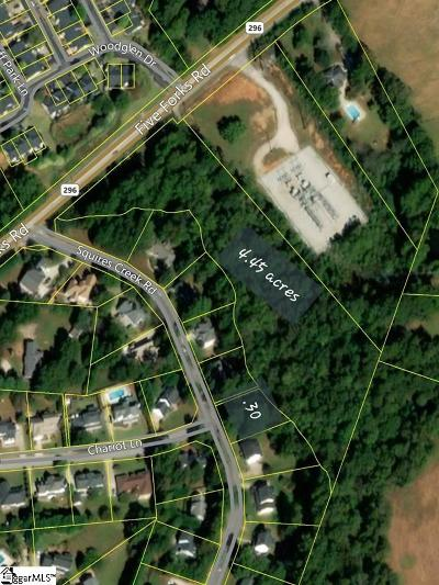 Simpsonville Residential Lots & Land For Sale: Five Forks