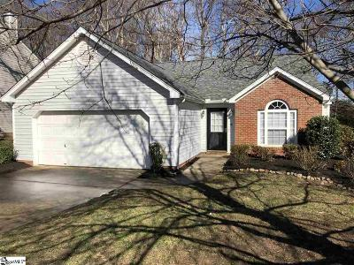 Simpsonville Single Family Home Contingency Contract: 211 Fairview Lake