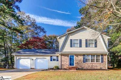 Simpsonville Single Family Home Contingency Contract: 102 Pine Bark