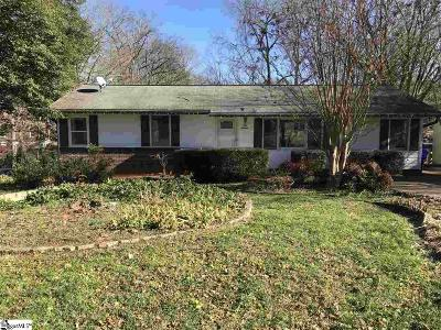 Greenville Single Family Home Contingency Contract: 119 Scarlett