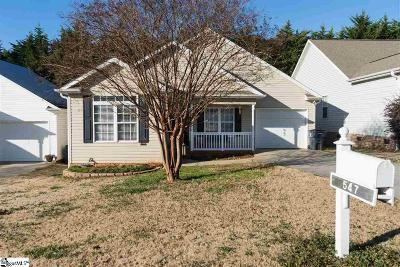 Inman Single Family Home For Sale: 547 Franklin Asberry