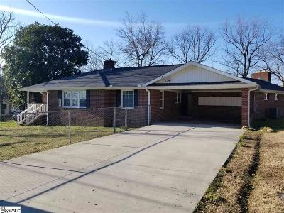 Greenville SC Single Family Home For Sale: $157,500