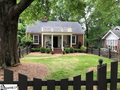 Greenville Single Family Home For Sale: 102 Ponce De Leon