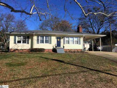 Greer Single Family Home For Sale: 118 Overbrook