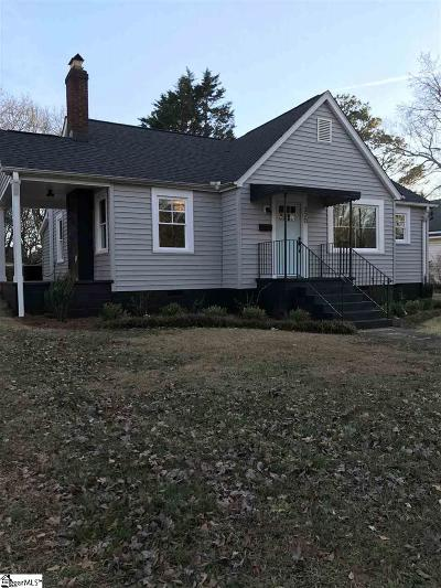 Greenville SC Single Family Home For Sale: $169,900