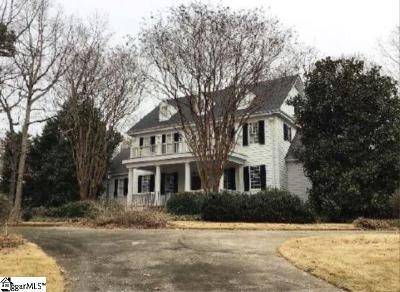 Simpsonville Single Family Home For Auction: 1 Joshuas