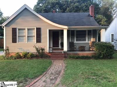 Greenville Single Family Home Contingency Contract: 214 Sycamore