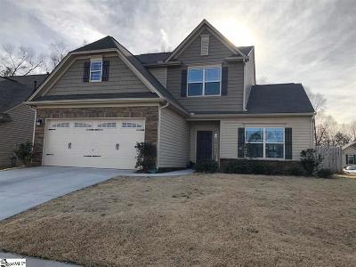 Simpsonville Single Family Home For Sale: 129 Sedgebrook