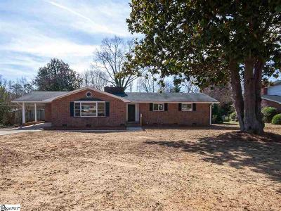 Greenville Single Family Home Contingency Contract: 18 Vicki