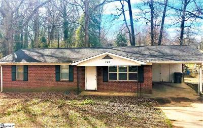 Greenville Single Family Home Contingency Contract: 109 Oak