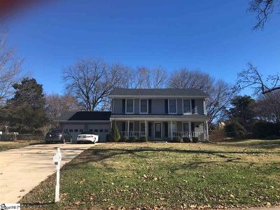 Simpsonville Single Family Home Contingency Contract: 103 Steeplechase
