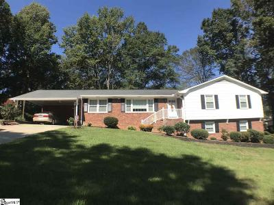 Greenville Single Family Home For Sale: 109 Kingsridge