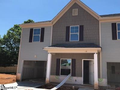 Greenville County Condo/Townhouse For Sale: 18 Double Branch