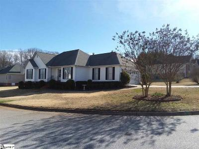 Simpsonville Single Family Home Contingency Contract: 20 Arbordale