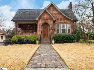 Greenville SC Single Family Home For Sale: $450,000