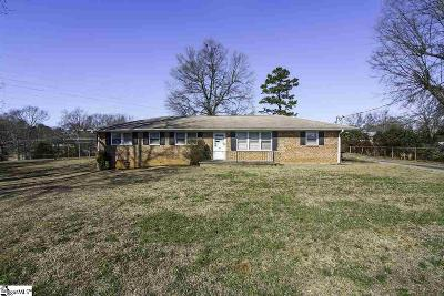 Greenville SC Single Family Home For Sale: $129,900