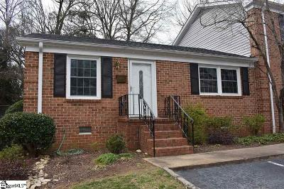 Greenville SC Condo/Townhouse For Sale: $98,000