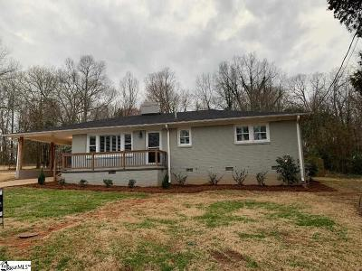 Greenville Single Family Home For Sale: 107 Linda