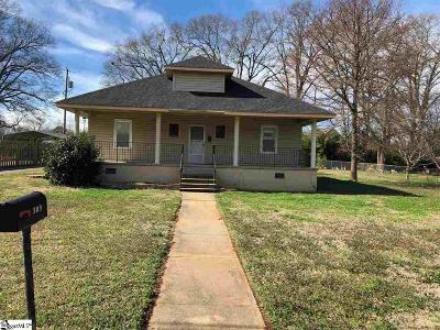 Pelzer Single Family Home For Sale: 309 Anderson